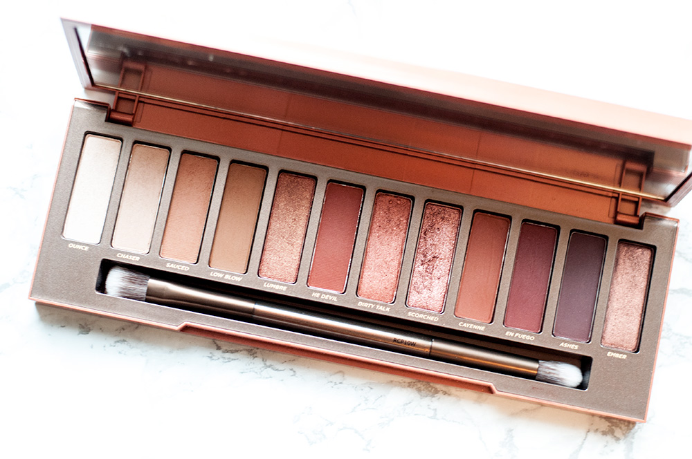 The Urban Decay Naked Heat Palette Review via Sarenabee.com
